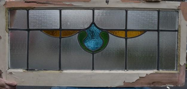 R105. SOLD £40.glass: 33 x 91cm, frame: 45 x 99cm
