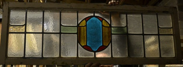 R114. SOLD £65. glass: 36 x 121cm, frame: 44 x 129cm