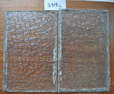 S915a. £14 the pair. One in size 220 x 346mm with a 50mm long crack in one corner. The other is 220 x 335mm.